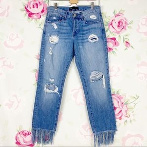 3x1 NYC Distressed Crop Fringe Denim 26